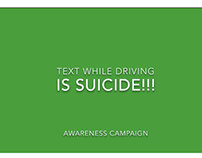 Texting while driving is SUICIDE!!