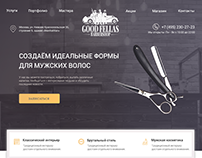 Barbershop design by landing page