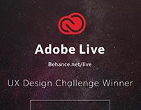 Adobe Live UX Design Challenge Winner