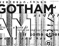 GOTHAM Typography Poster