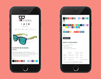Colour Picker tool using Shopify for sunglasses brand.