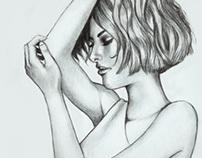 Emotive Portrait Pencil Drawing