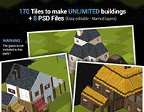 Isometric Tileset #3 - Buildings Creator Pack