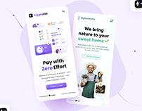 Cryptollet & MyGardenPal Mobile UI Design