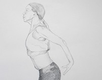 Drawings - study of figures in motion