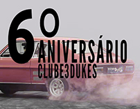Poster and stikers for the 6th anniversary of  Clube3D
