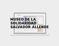 Museo de la Solidaridad Salvador Allende Website