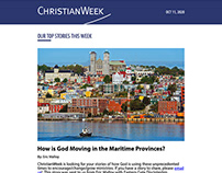 Custom Newsletter Design for ChristianWeek