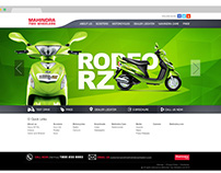 Mahindra2Wheelers Corporate - UI/UX | Art Direction