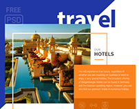 FREE PSD Travel Landing Page