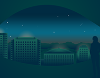 Illustrator Practice - Night Cityscape