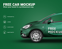 Free Opel Corsa Car Mockup Sample