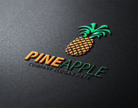 3D pineapple logo