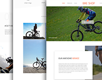 Responsive Landing Page For Bike Shop