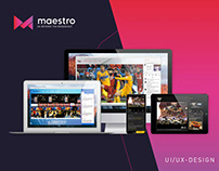 Maestro Online Broadcasting (UI/UX) Dashboard