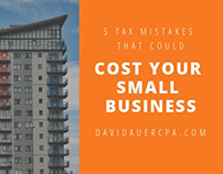 5 Tax Mistakes | David Auer CPA