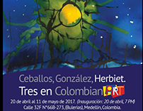 Tres en ColombianArt (abril 20-Mayo 11)