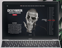 Web design Rap site Oxxximiron