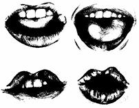 """""""Love you"""" lips"""