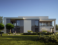 Exclusive modern villa visualisation for lk-projekt.pl