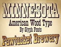 Minnesota typeface (by Glyph Fonts)