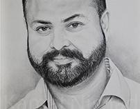 A MAN - Portrait Sketch by Artist Kamal Nishad