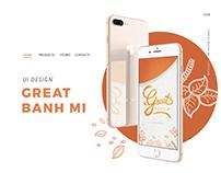 UI DESIGN - GREAT BANH MI APP