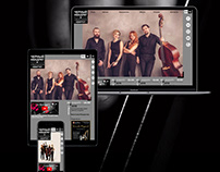 Responsive web site for classical musicians