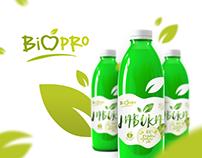 BIOPRO Natural Apple Juice Logo & Label Design