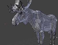 Moose/elephant modeling with Blender