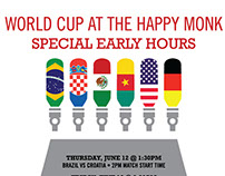 World Cup Poster for The Hoppy Monk