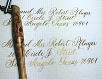 Copperplate flourishes