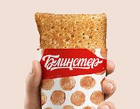 Blinster. Pancake fast food packaging