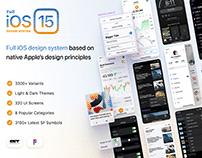 Full iOS 15 UI Kit