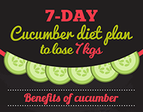 Medlife - Cucumber Diet Plan - #Infographics