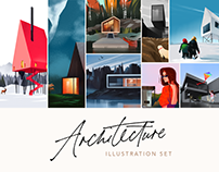 Digital Art: Architecture Illustration Set