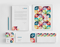 Colorful Circles Pattern Stationery