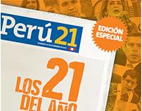 Suplemento LOS 21 DEL AÑO - Perú21
