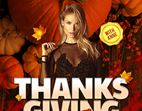 """Thanks Giving"" poster design concept"