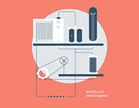Artificial Intelligence Illustrations and Web Design