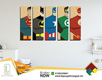 Teenages Canvas Printed Tableau