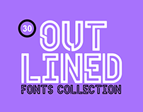 30+ Nicely Outlined & Appealing Fonts Collection