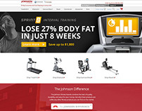 Johnson Fitness responsive ecommerce site design