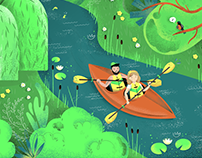 Sport themed illustrations