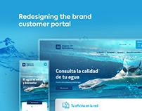 Redesigning the brand customer portal