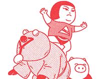 Kukeri,Kintaro & Pig