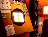 Environment Design: Animators Home Office