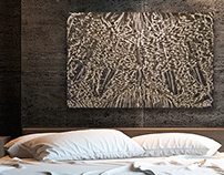 """Canyon Moon - etched aluminum - 48"""" x 36"""""""