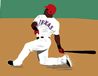Adrian Beltre Illustration