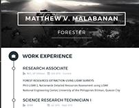 Creative CV for Matthew Malabanan